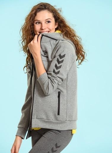 Hummel Fermuarlı Kapüşonlu Sweatshirt Renkli